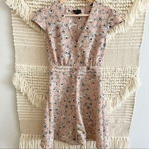 TOPSHOP Floral Tea Short Dress